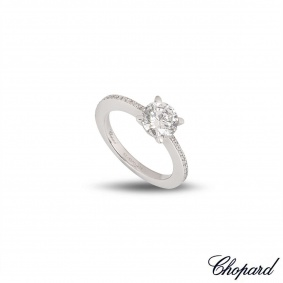 Chopard White Gold Diamond Ring 1.01ct D/VS2